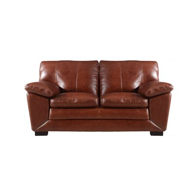 Arsneault Leather Loveseat