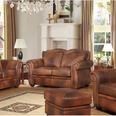 Danieli Leather Loveseat