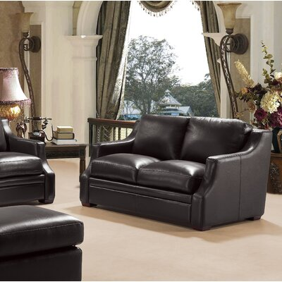 Chico Leather Loveseat