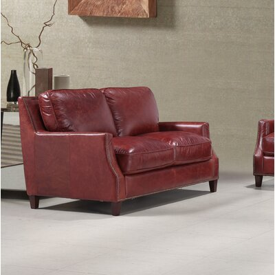 Claudio Leather Loveseat