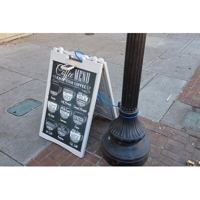 Elite Solar Powered Light A Frame Sidewalk Sign
