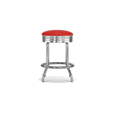 No credit check financing Retro Backless Counter Height Stool...
