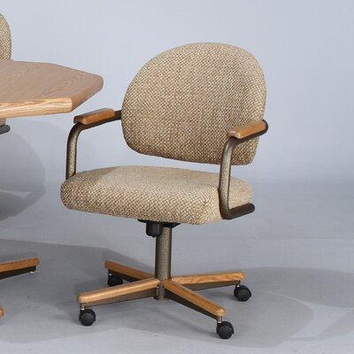 Low Price Chromcraft Core Tilt Swivel Arm Chair Upholstery: Coffee Bean, Finish: Bronze Metal and Glenoak