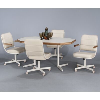 Chromcraft Core 5 Piece Extension Dining Set In Almond Crf1203 Dining Table Mall