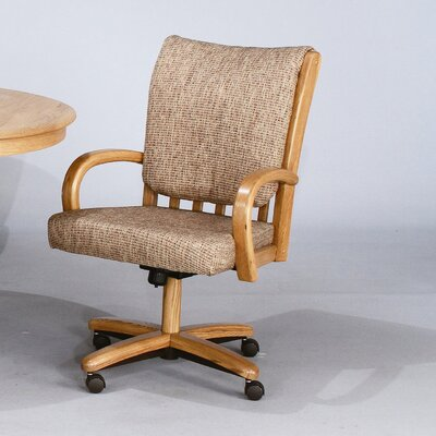 Low Price Chromcraft Core Tilt Swivel Arm Chair Upholstery: Bamboo Friar Fabric