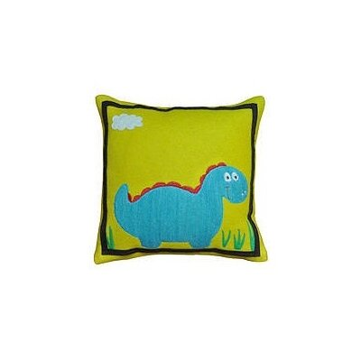 Dino Wool Throw Pillow