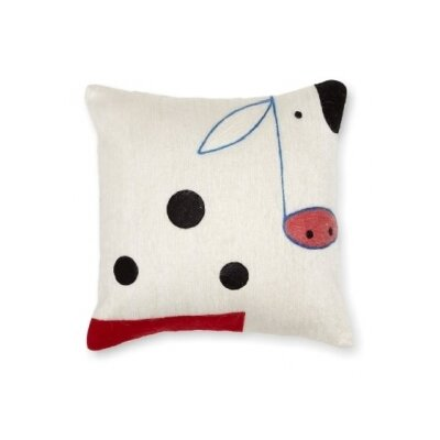 Cow Wool Throw Pillow