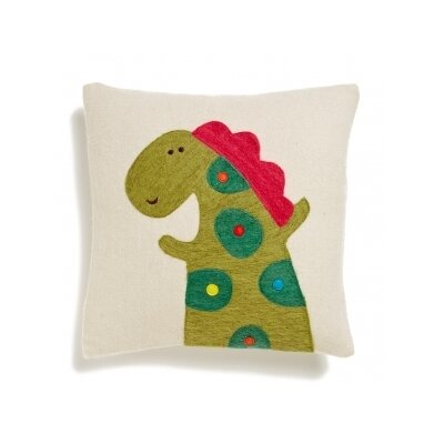 Alligator Wool Throw Pillow