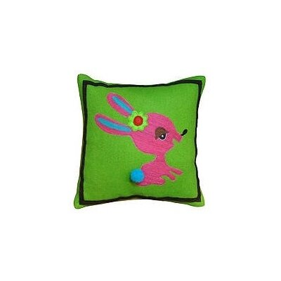 Bunny Wool Throw Pillow