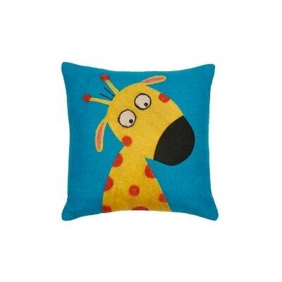 Funny Giraffe Wool Throw Pillow