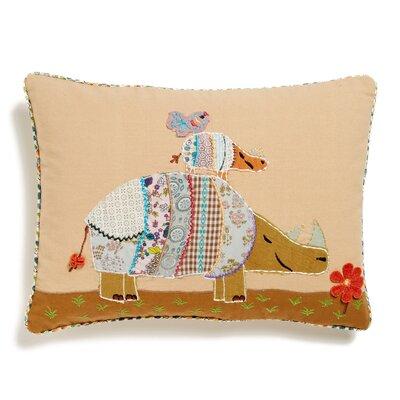 Rhino Accent Cotton Throw Pillow