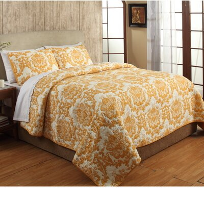 Damask Quilt Set Size: Queen