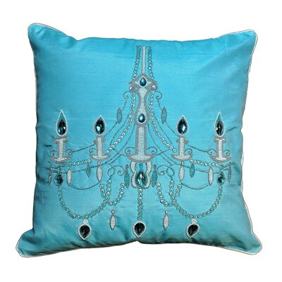 Chandelier Wool Throw Pillow