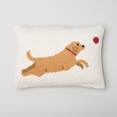 Leaping Dog Wool LumbarPillow