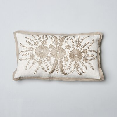 Pia Flax Cotton Lumbar Pillow