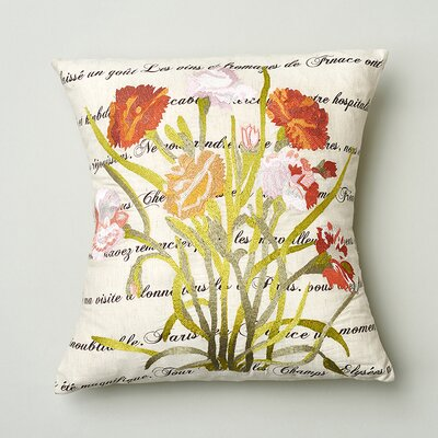 Poppy Cotton Throw Pillow
