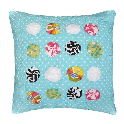 Abby/Jane Yo Yo Decorative Cotton Throw Pillow
