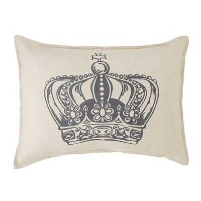 King Crown Linen Lumbar Pillow