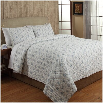 Toile 2 Piece Quilt Set Size: Twin