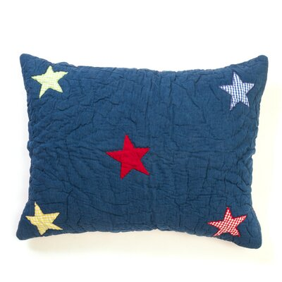 Denim Star Sham Size: Standard