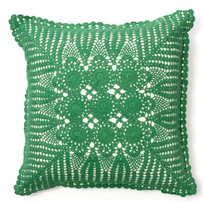 Crochet Cotton Throw Pillow