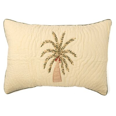 Palm Tree Sham Size: Standard
