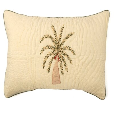 Palm Tree Sham Size: Euro