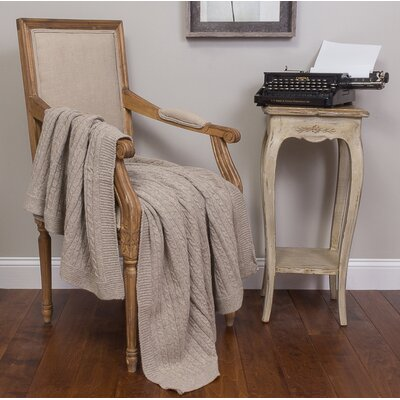 Kimberly Cotton Throw Color: Taupe