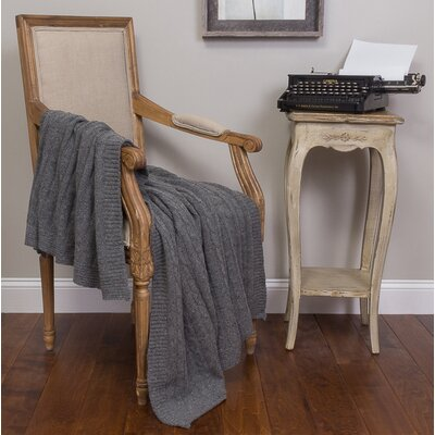 Kimberly Cotton Throw Color: Charcoal