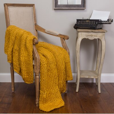Ray Cotton Throw Color: Mustard
