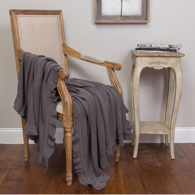 Quarrie Cotton Throw Color: Gray