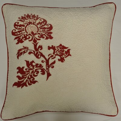 Cot De Rhone Cotton Throw Pillow Color: Red