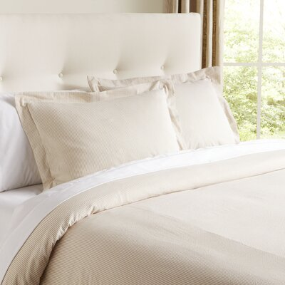 Elizabeth Seersucker Duvet Cover Size: Twin, Color: Parchment