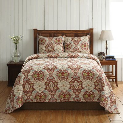 Cottage Home Giselle 3 Piece Quilt Set Size: King