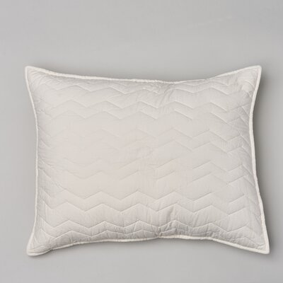 Chevron Cotton Sham Size: King, Color: Taupe