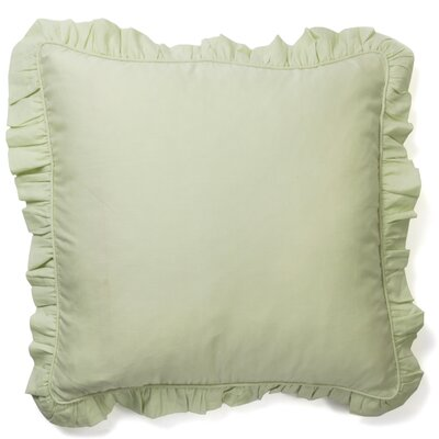 Ruffled Euro Sham Color: Green