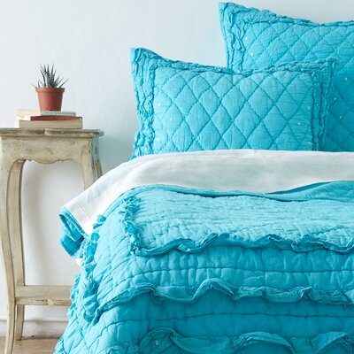 Casey Quilt Size: Queen, Color: Teal