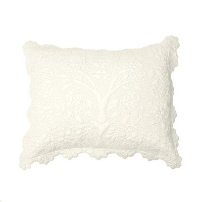 Shantoon Sham Color: Ivory, Size: Standard