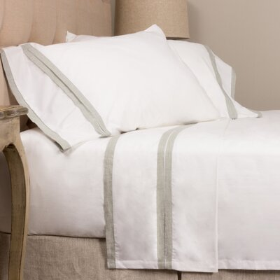 Banded 280 100% Cotton Sheet Set Size: Queen