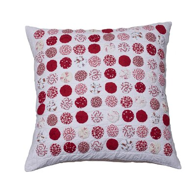 Yo Yo Cotton Throw Pillow