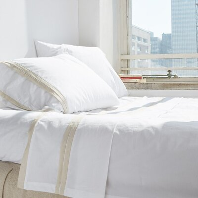 Banded Pillow Case Size: Standard