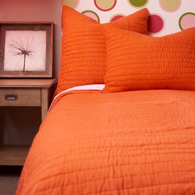 Brighton Quilt Size: Twin, Color: Persimmon