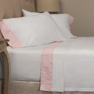 Striped 280 100% Cotton Sheet Set Size: Queen, Color: Pink