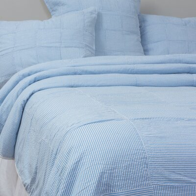Ian Quilt Color: Blue, Size: King