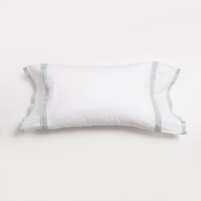 Dainty Ruffle 100% Cotton Lumbar Pillow Color: Seaglass