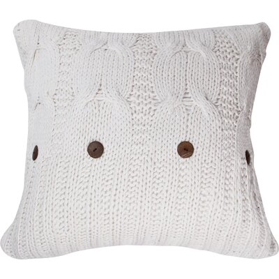 Michaela Knitted Euro Sham Color: White