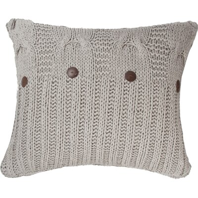 Michaela Knitted Euro Sham Color: Gray