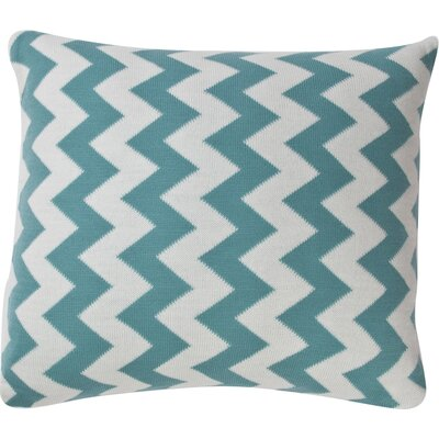 Zig Zag Cotton Throw Pillow Color: Teal