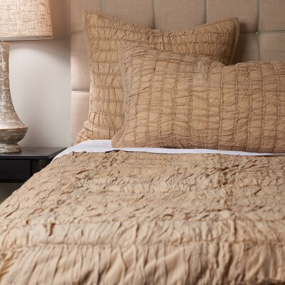Rutched Quilt Size: Full / Queen, Color: Taupe