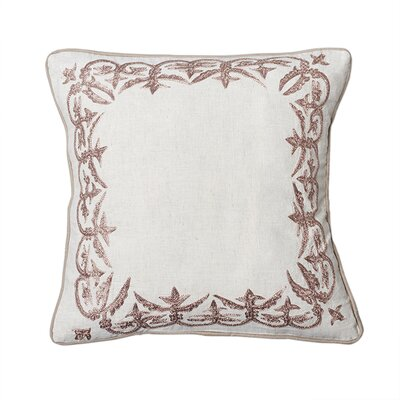Ruffina Flax Cotton Throw Pillow Size: 18 H x 18 W